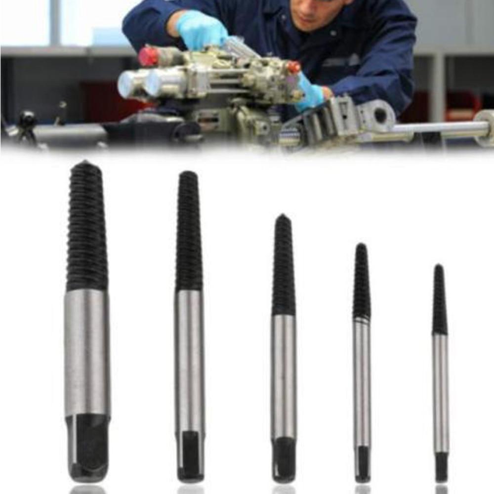 цена на 5pcs Breakage Screw Puller Extractor Damaged Broken Bolt Remover Tools