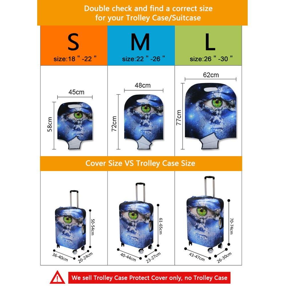 Эластичный Защитный Чемодан охватывает цветочные принты для 18-30 дюймов чемоданы для девочек дорожные аксессуары Портативный тележка чехол
