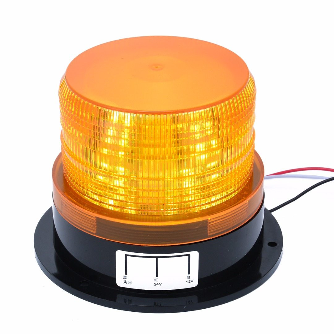 Mayitr Car Lights 12V-24V LED Flashing Strobe Beacon Emergency Warning Light Lamp Amber Bulbs