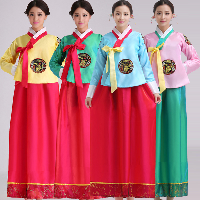 Show details for 2015 Korea Traditional Court Womens Hanbok Korean Dances Clothing High Quality Women Embroidery Cosplay Costume Robe Dress