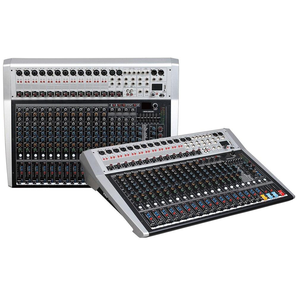 Console de mixage enregistreur 48 V alimentation fantôme moniteur AUX effet chemin 16 24 canaux audio table de mixage USB 99 DSP effets LCi|Stade Audio| |  -