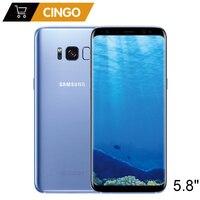 Оригинальный samsung Galaxy S8 4 Гб Оперативная память 64 Гб Встроенная память 5,8 дюйма одной сим-Android Восьмиядерный 12MP 3000 mAh Fingerprin S-серии мобильных те...