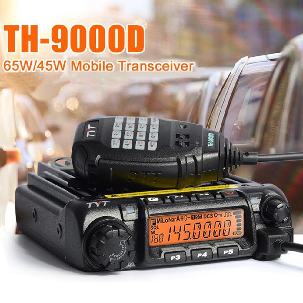 Latest Version TYT TH 9000D Mobile Radio VHF136 174MHz or UHF400 490MHz Walkie Talkie 60W 45W