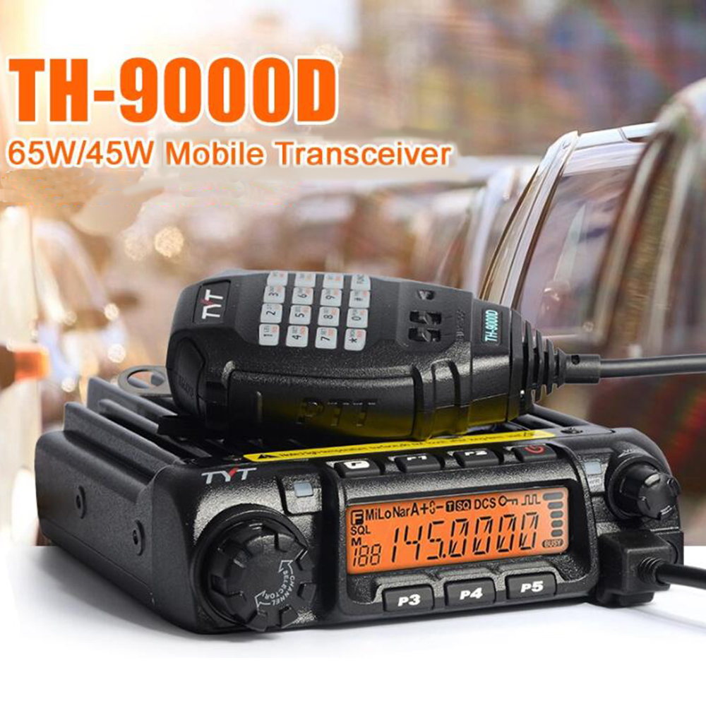 9000D 60W VHF 136-174Mhz Ham Two-Way Radio Transceiver TYT TH