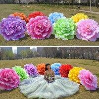 10 pcs 70 cm Rétro Chinois Pivoine Fleur Parapluie De Danse Performance Props Décoration De Mariage Photographie Parapluie wen4686
