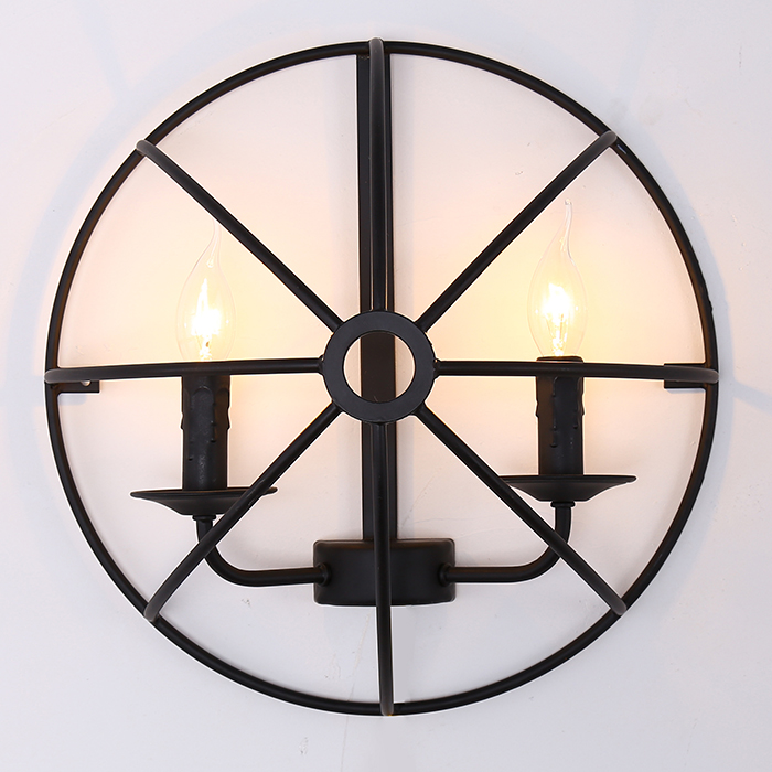 American country Nordic retro loft semicircle globe black iron wall lamp for restaurant bar dining room wall lamp nordic loft designers study bedside lamp american country retro style queen double mechanical arms industry bar wall sconce lamp