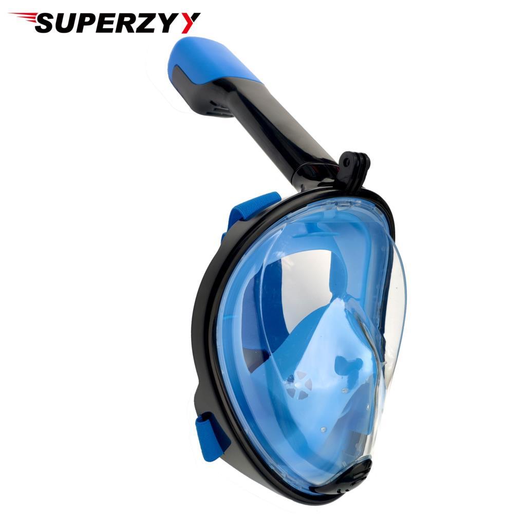 Industrioso 2019 Disegno Subacquea Snorkel Anti Fog Completa Viso Delle Vie Respiratorie Maschera Per Lo Snorkeling Mascherina Di Immersione Subacquea Per Adulti 180 Vista Nuovo Colore Vendite Economiche