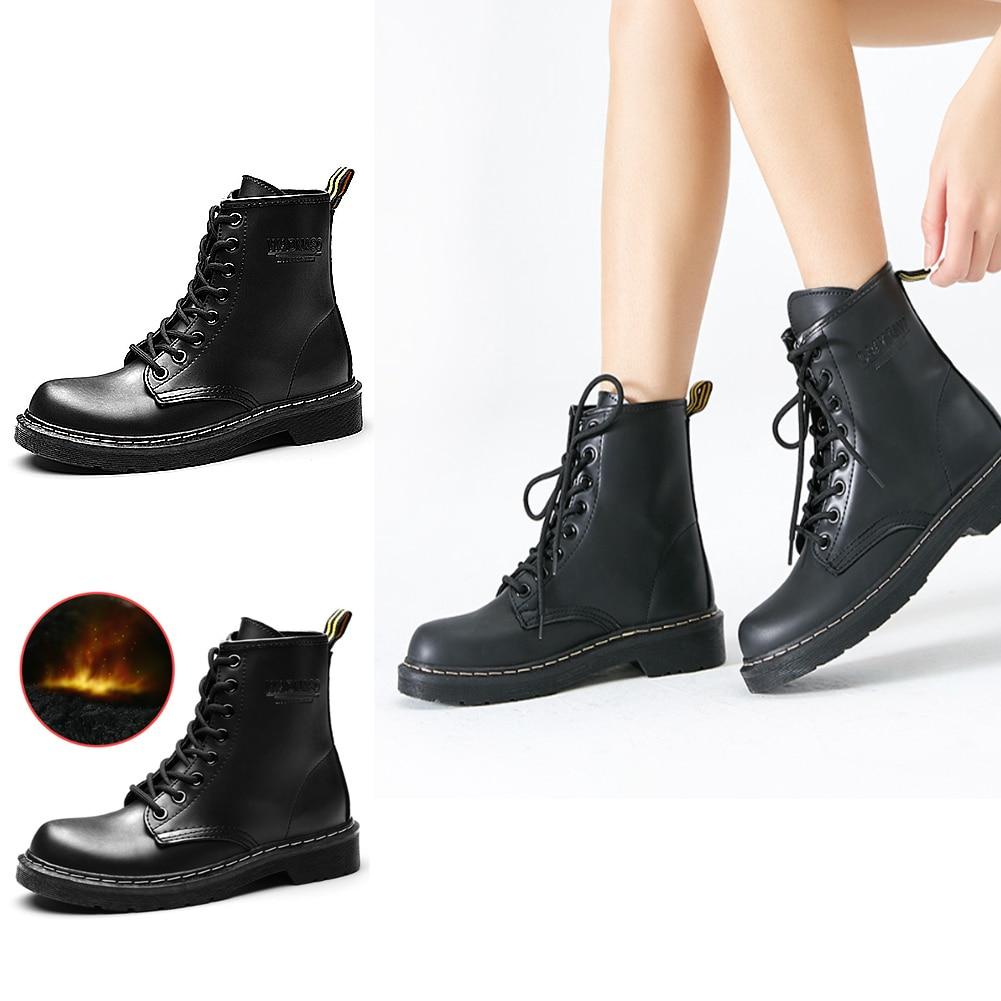 D'hiver Chaussures A Top Le En Femmes Martin Europe De b Haute Chaud Et Bottes 2018 Velours Plus Botas Cuir Mujer 4dd68xUqw