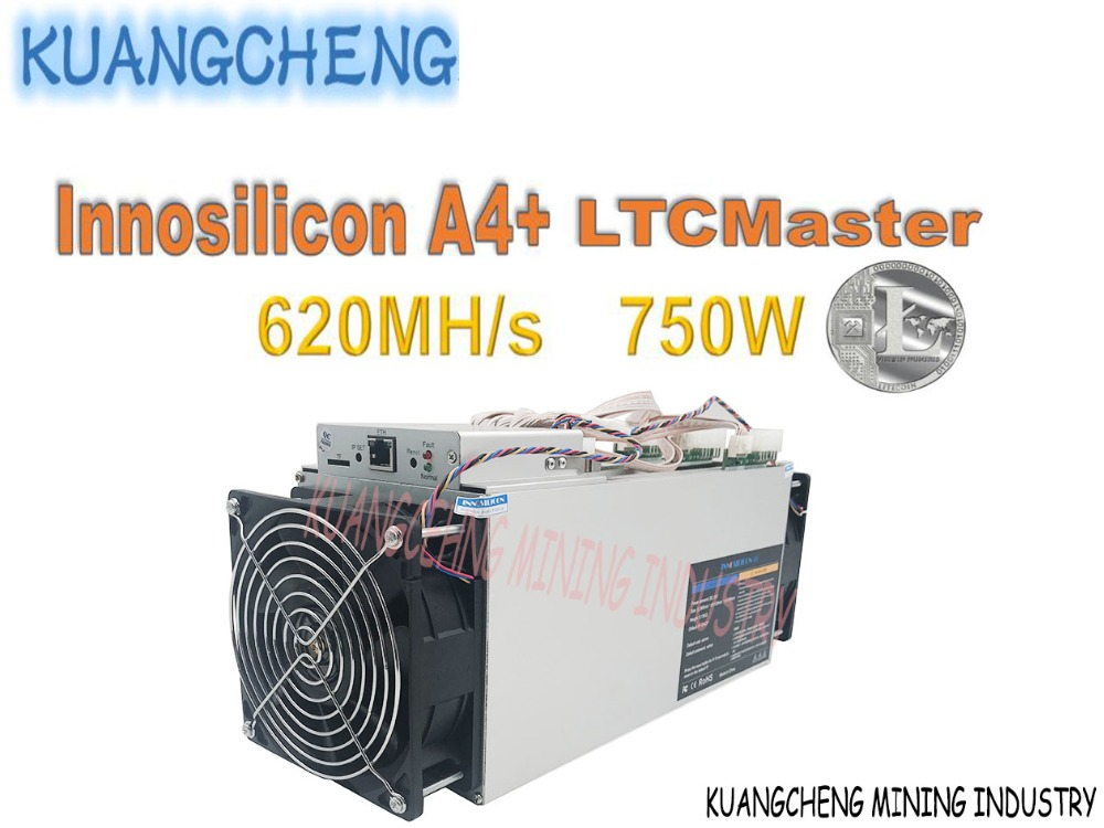 Used Asic Miner Litecoin Innosilicon A4+ LTC Master 620Mh / S 750W With Original Power Supply Better Than Antminer L3++ For LTC