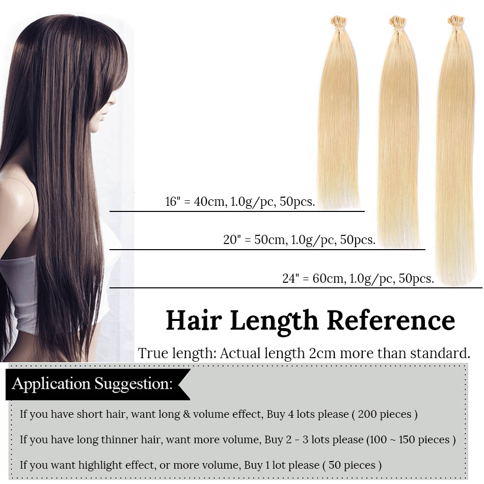 MRSHAIR Pre Bonded Hair Extensions I 팁 1g / pc 16