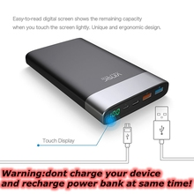 20000mah Power Bank Quick Charge 3.0 Powerbank Type C for Xiaomi Mi5 Nexus 5X 6P Samsung S8 Note 8 Type-C Devices Charger