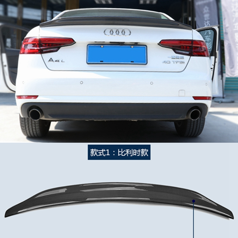 A4 B9 Car Styling Carbon Fiber Body Kit Rear Trunk Lip Wing Spoiler for Audi A4 B8 2017-2018 цены