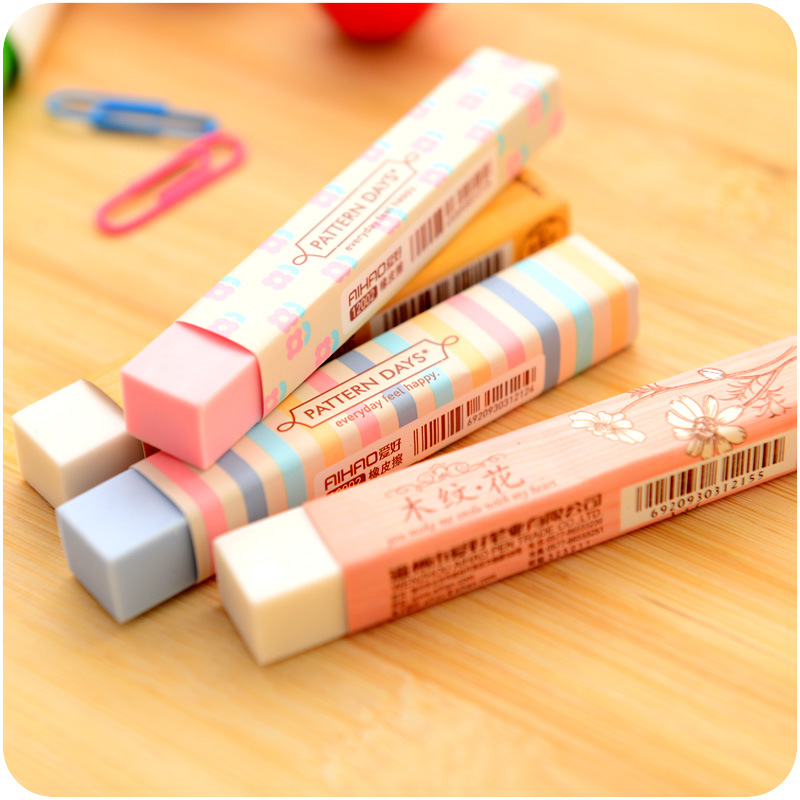 1Pc Stationery Supplies Kawaii Cartoon Pencil Erasers For Office School Kids Prize Writing Drawing Wholesale 1pcs new creative stationery supplies kawaii cartoon pencil erasers for office school kids prize writing drawing student gift