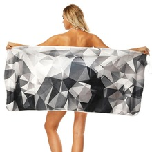 Geometric Figure Printing Bath Towel Bathroom Super Absorbent Quick-drying Wearable Beach Towel Outdoor Adult Women Home Towels big size printing bath towel bathroom super absorbent quick drying beach towel yoga spa outdoor adult women man movement towels
