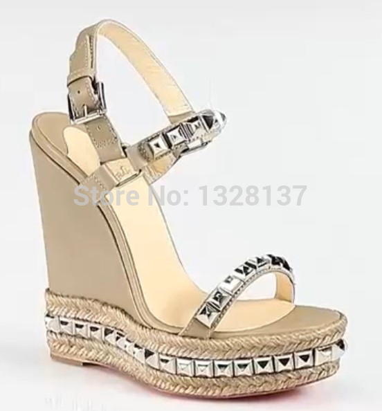 Summer Fashion ladies Sandal High Heel wedge heel sandals Open Toe women fashion shoes women dress shoes party shoes Wedges yellow orange open toe women sandals thin high heel shoes open heel criss cross strap summer sandal 2015 sapatos femininos