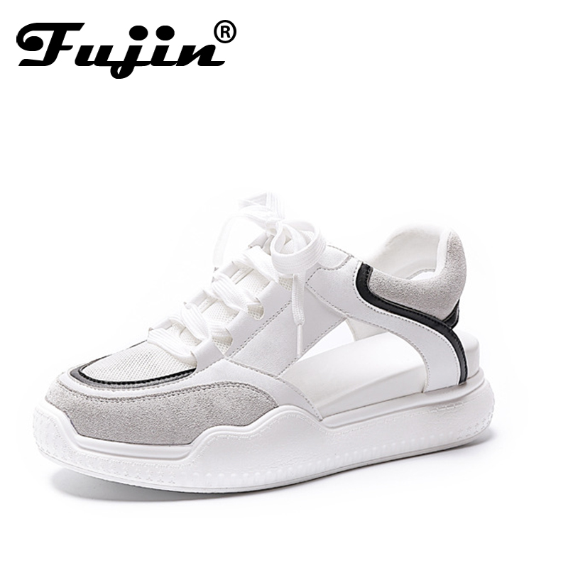 Fujin Brand 2018 New Woman Sandals Summer Breathable Women Platform Casual Shoes Fashion Thick Bottom Ladies Wedges Sandals women creepers shoes 2015 summer breathable white gauze hollow platform shoes women fashion sandals x525 50