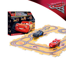2017 Disney Pixar Cars 3 McQueen Storm Jackson 2PCS Electric Slot Cars Toys for Boys Children with 10PCS DIY Tracks Educational