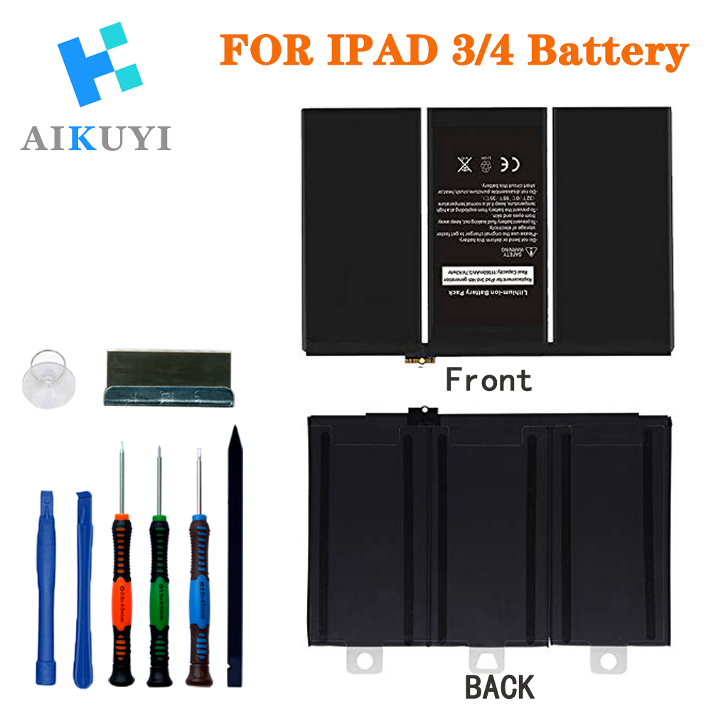 New Tablet Battery For IPad 3/4 11560mAh A1403 A1416 A1430 A1433 A1459 A1460 A1389 Replacement Battery +Tools