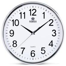 POWER Brand 12 Inch Circular Large Wall Clock Simple Horloge Murale Reloj De Pared Klok Silent Home Decor Metal Pointer Clocks