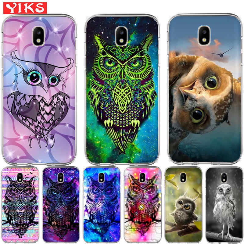 Luxury cute starry owl Case For Samsung Galaxy J3 J5 J7 2015 2016 2017 J2 Prime G530 Cover Case Soft TPU Coque Case Capinha Etui