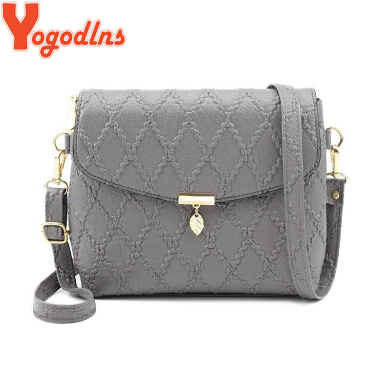 Yogodlns Women PU Leather Flap Messenger Bag Small Leaf Pendant Handbags Simple Style Shoulder Bags Crossbody Bag Clutch Purse