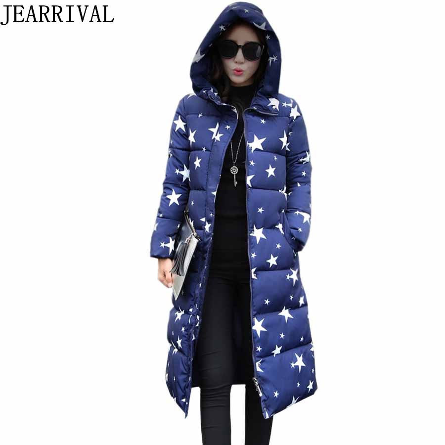 2017 New Winter Coat Womens Parka Casual Hooded Medium-Long Cotton Padded Warm Down Jackets High Quality Winter Jackets Coats womens winter jackets slim fashion womens parka medium long thicker coat jackets female lapel down padded cotton jacket c1699