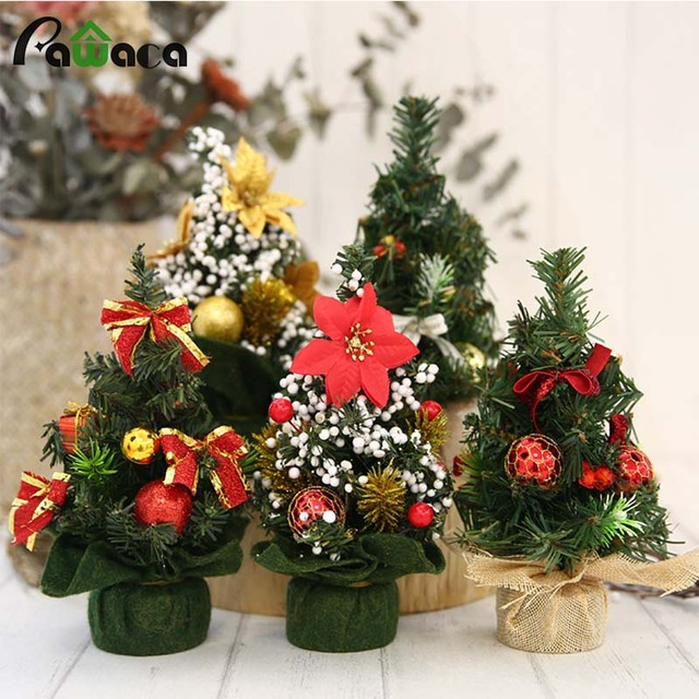 christmas decorations artificial craft 22cm mini christmas tree desktop ornaments for christmas decoration for home kids
