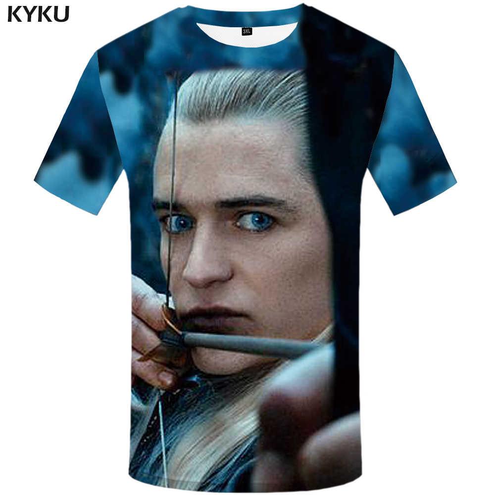 KYKU брендовая футболка с драконом и шариком Забавные футболки для мужчин, забавная японская Мужская одежда, футболка 3d Homme, Повседневная футболка в стиле хип-хоп с принтом 2017