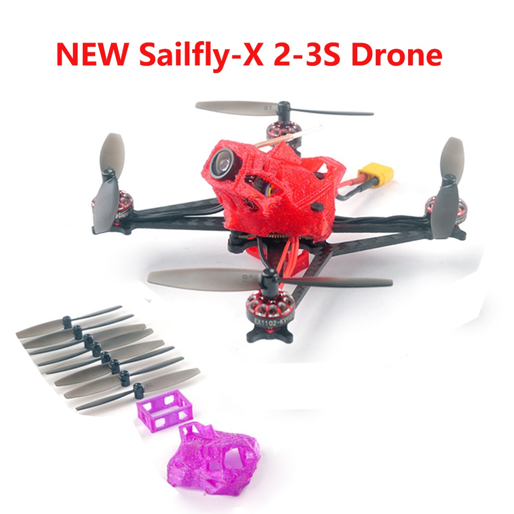 Happymodel Sailfly-X 105mm Crazybee F4 PRO V2.1 AIO Flight Controller 2-3S Micro FPV Racing Drone PNP BNF 25mW VTX 700TVL Camera(China)