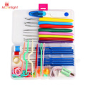 BEST Sewing Tool Set 16 Sizes Crochet Hooks Needles Stitches Knitting Craft Case Crochet Set, Household Hand Tools Set