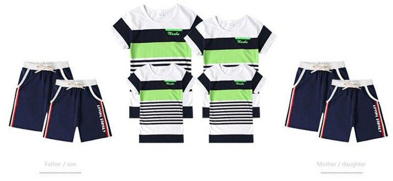 Bijpassende Familie Kleding Outfits Mode Moeder Dochter Kleding T-shirt Shorts Vader Zoon Kleding Sets Moeder Zoon Outfits