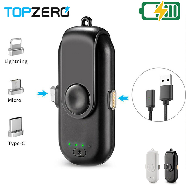 TOPZERO Cho Apple Micro Loại C Từ Điện Cầm Tay Mini Ngân Hàng Từ Sạc Nhanh Công Suất Ngân Hàng Cho iPhone 6 iPhone 6 S 7 8 XS XR