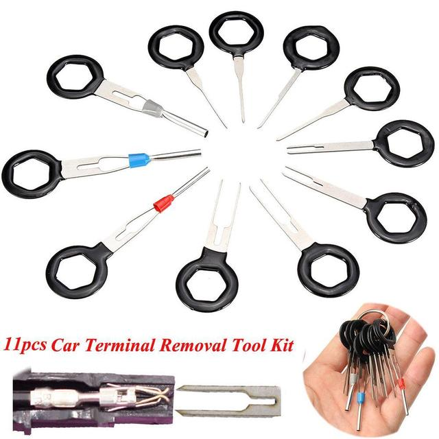 11pcs set terminal removal tools car electrical wiring crimp automotive wiring system diagram 11pcs set terminal removal tools car electrical wiring crimp connector pin extractor kit metalworking a609