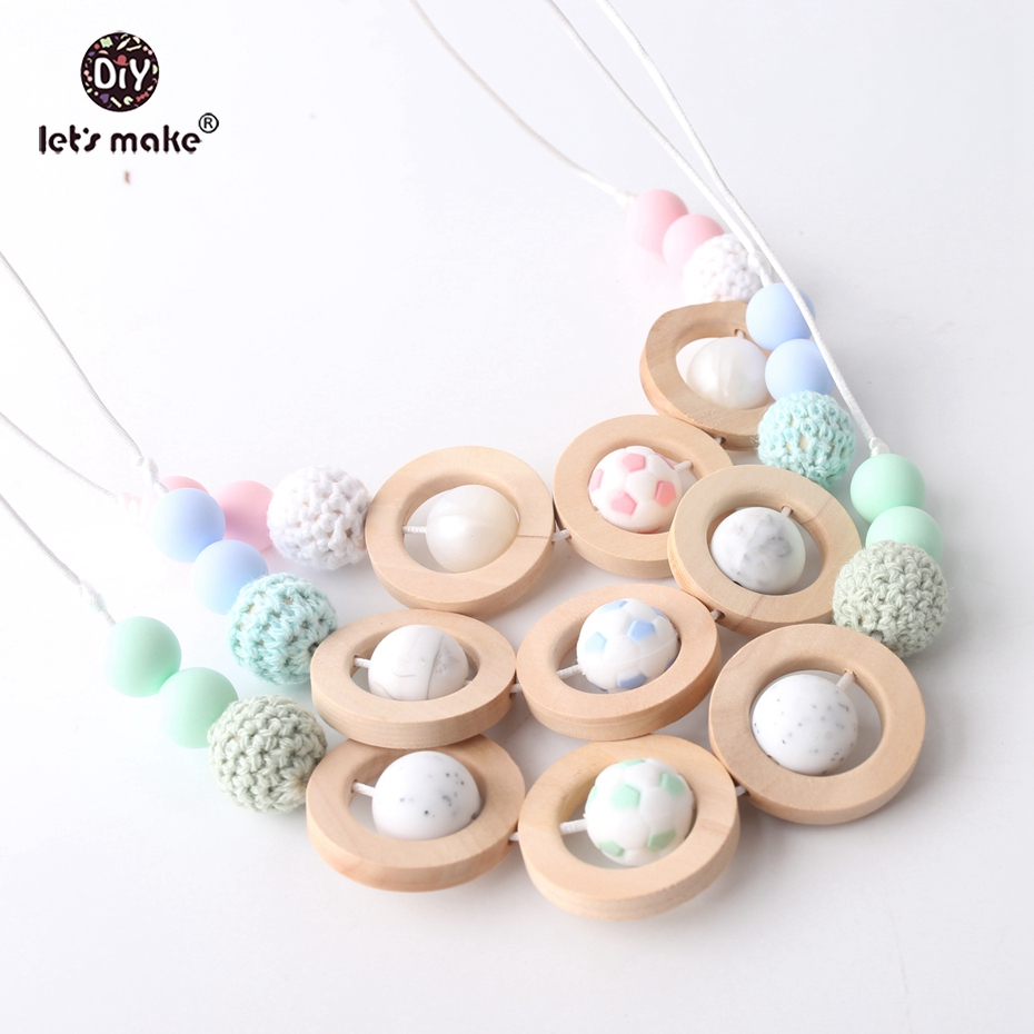 Narrow Leaf Silicone Teething Beads DIY Baby Chewable Jewelry Necklace Making