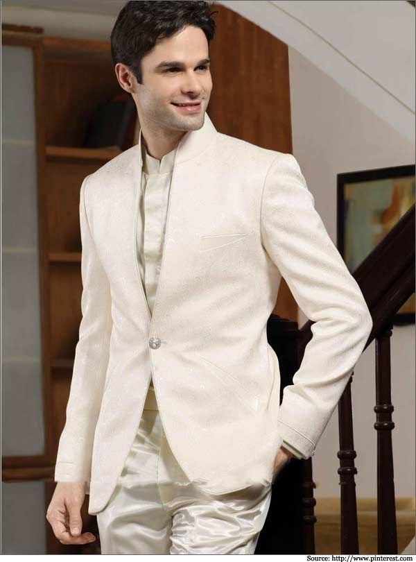 Latest Coat Pant Designs Beige White Men Suit Terno Slim Fit 2 Piece Tuxedo Style Suits Custom Groom Blazer Vestidos Jacket+Pant
