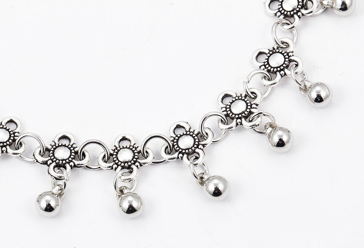 HTB1bMRkMpXXXXckXpXXq6xXFXXXB Sterling Silver Anklets - Stylish Women Silver Floral Anklet Foot Chain Jewelry With Charms