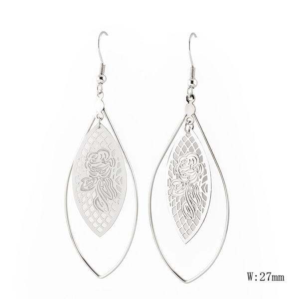 GU-16 Fashion Jewelry Cute Cherry Blossoms Flower Earrings for Women Several Peach Blossoms Earrings
