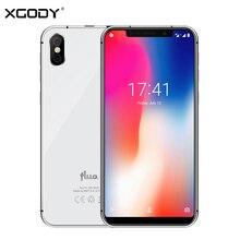 """XGODY Fluo N 4G 잠금 해제 스마트 폰 5.7 """"19:9 노치 화면 안드로이드 8.1 듀얼 Sim 휴대 전화 3GB + 32GB 페이스 ID 핸드폰 2500mAh"""