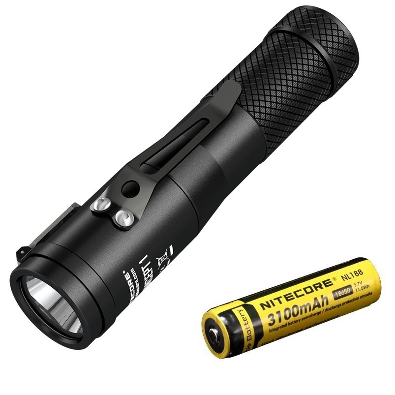 NITECORE  C1 LED Flashlight CREE XHP35 HD 1800Lumen LED Tor Magnetic Tailcap with 18650 Battery for Camping|LED Flashlights| |  - title=