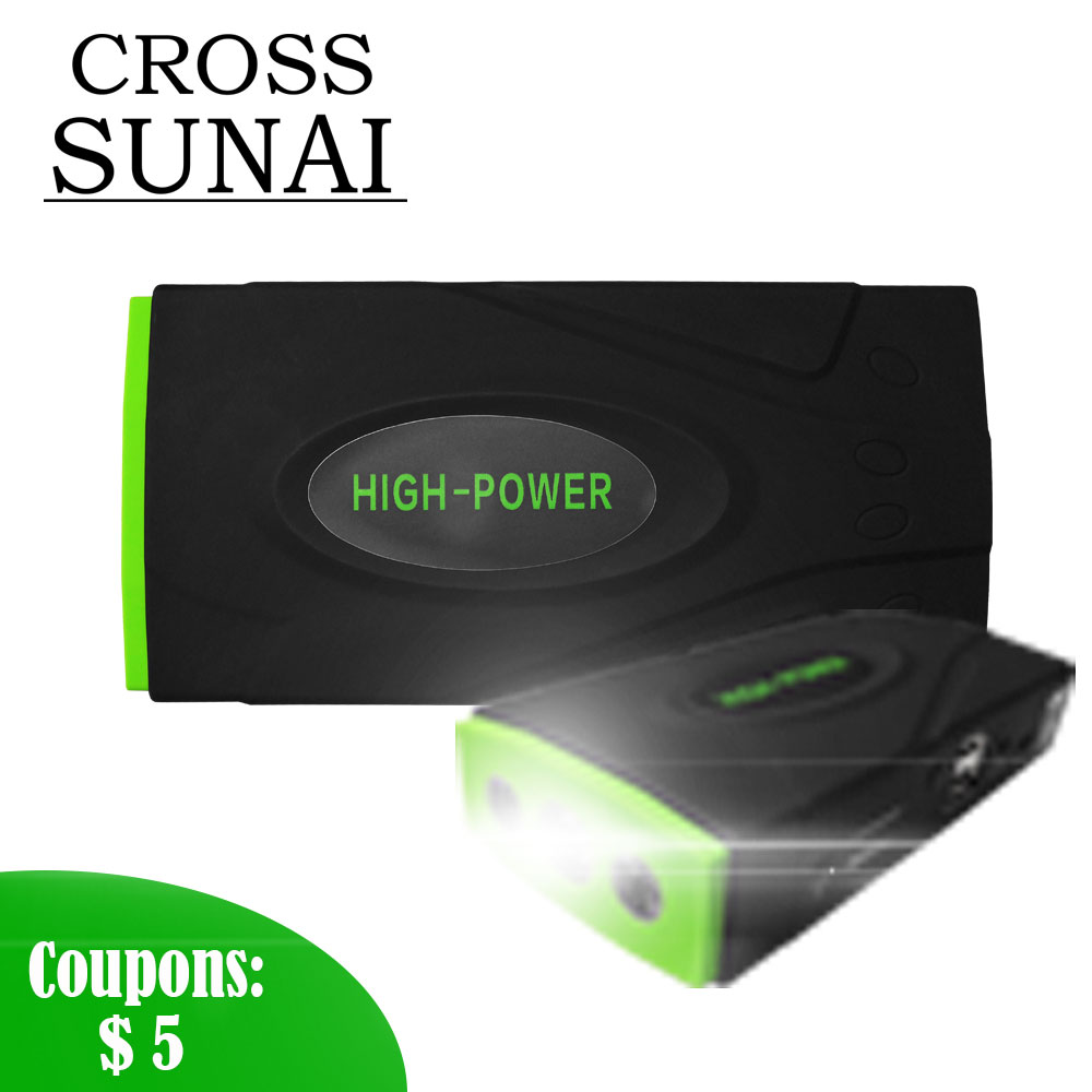 Voiture saut démarreur batterie externe haute capacité démarrage dispositif voiture batterie chargeur Booster Portable voiture démarreur 600A 12 V 16800 mAh