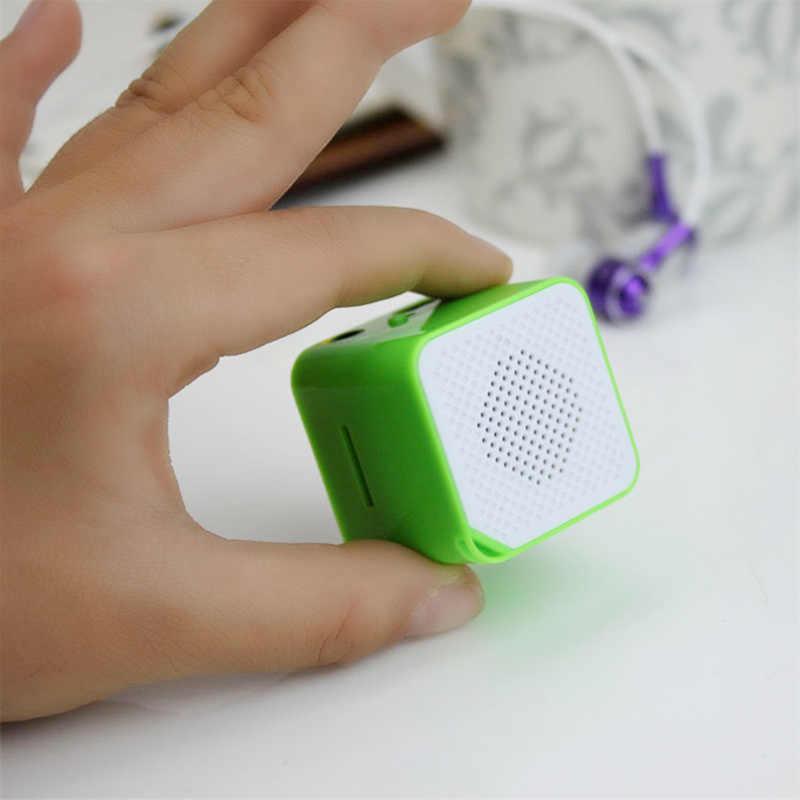 Mini Renkli MP3 Müzik Çalar Küp Şekli Ses Çalar taşınabilir kablosuz hoparlör Desteği TF Kart açık Müzik surround