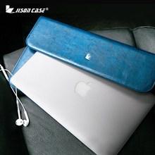 Jisoncase Натуральная кожа Чехол для MacBook Air Pro 11 12 13 дюймов Тонкий Дизайн Обложки Мода Люксовый Бренд Ноутбук мешок