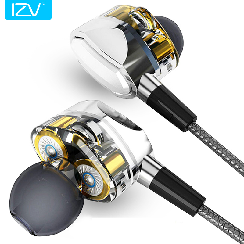 IZV Dual G2 Pro Dual Driver System Earphones Deep Bass HIFI Perfect Sound Quality Subwoofer Dynamic Driver In-Ear Earbuds boss bb 1x bass driver