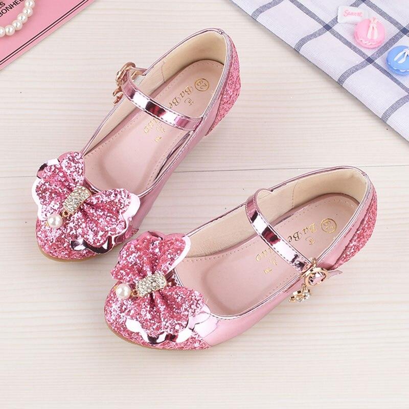 Niña princesa zapatos de cuero niños niñas bailando zapatos boda y - Zapatos de niños - foto 4