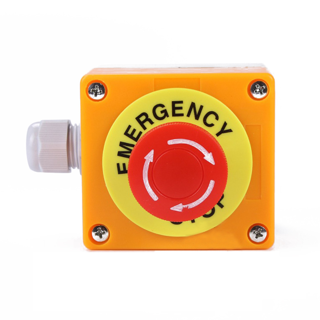 1pc Mushroom Cap Red Sign Emergency Stop Waterproof Emergency Stop Push Button Switch NO+NC 660V/10A 10pcs 6mm toggle switch waterproof cap dust cap mts mini toggles cap wpc 05 waterproof glue cap