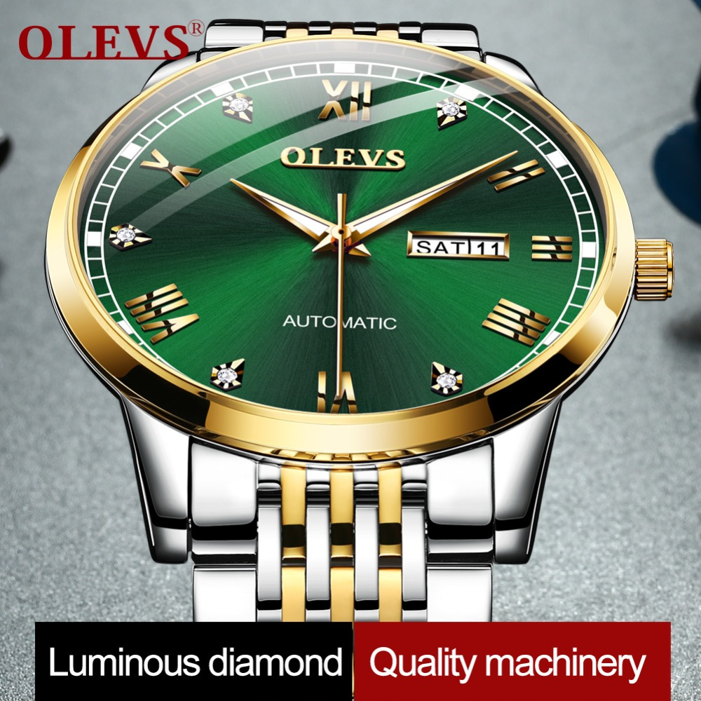 Ultra-thin Simple Classic Men Mechanical Watch Business Water Resistant watch Genuine Stainless Steel Rhinestone Automatic WatchUltra-thin Simple Classic Men Mechanical Watch Business Water Resistant watch Genuine Stainless Steel Rhinestone Automatic Watch