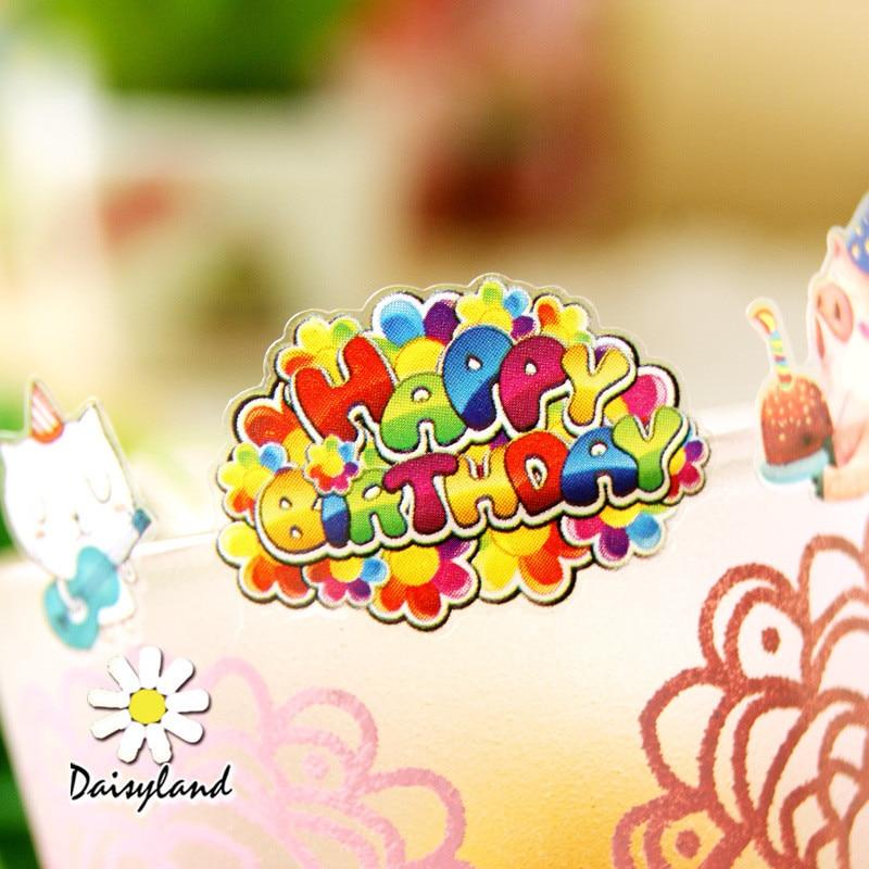 Brand New Coreano Kawaii Cartoon Buon Compleanno Tazza Telefono