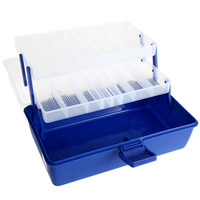 3 Layers Waterproof Fishing Tackle Box Plastic Lure Bait Hooks Beads Beans Storage Case Tackle Box