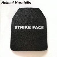 Helmet Hornbills 2pcs Lot 10 X 12 UHMWPE NIJ Lvl IIIA Stand Alone Bulletproof Panel NIJ
