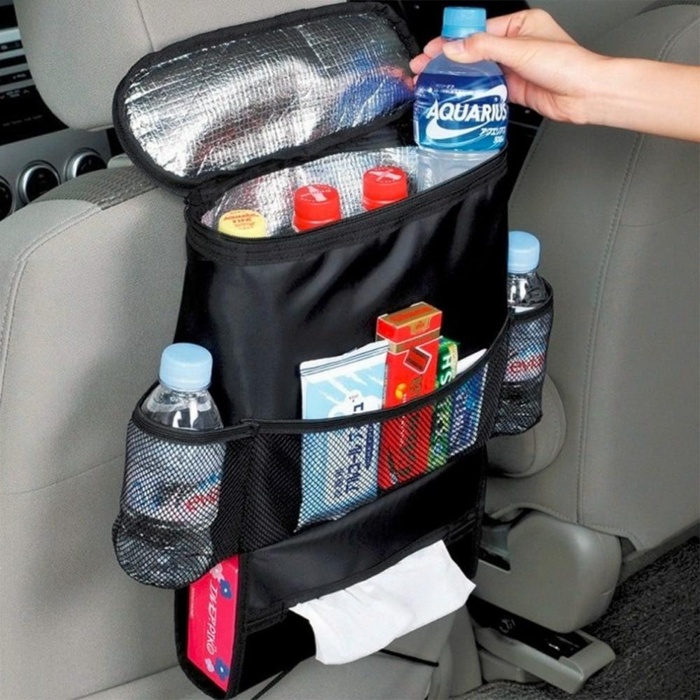 NEUE Isolierarbeiten Stil Auto-auto-sitz Organizer Sundries Inhaber Tasche Reise Aufbewahrungstasche Kleiderbügel Rücksitz Organisation Box